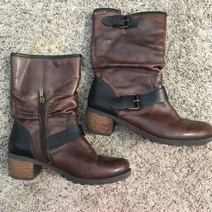Pikolinos Brown Leather Booties - 37 Eur